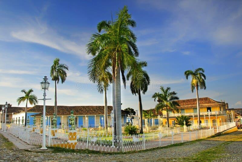 cuba borgmästareplaza trinidad fotografering för bildbyråer
