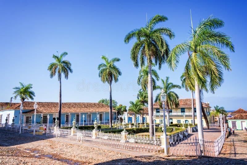 cuba borgmästareplaza trinidad arkivfoton