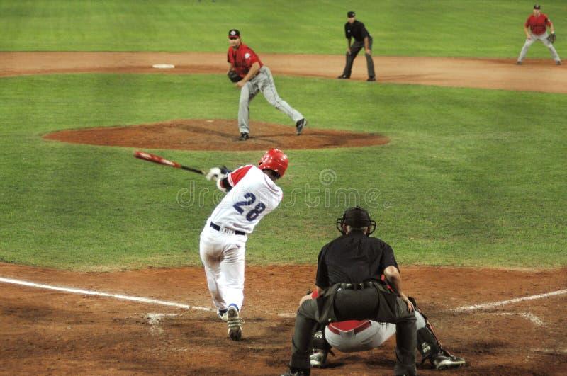 Cuba-Canada honkbalspel royalty-vrije stock afbeelding