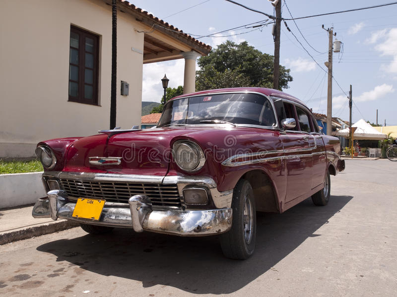 Cuba car. Old American car parked in a country the Cuban stock photos