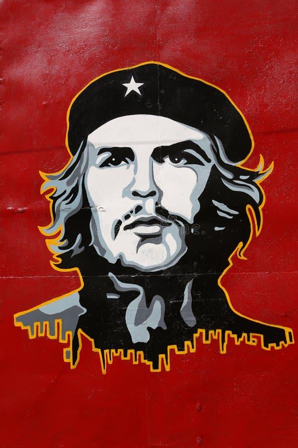 Cuba, Che Guevara. Cuba, Poster of Che Guevara in Cardenas royalty free stock photos