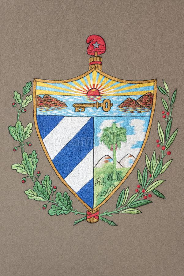 Cuba coat of arms royalty free stock photography