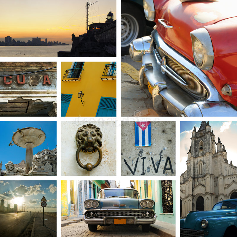 Cuba collage royalty free stock images