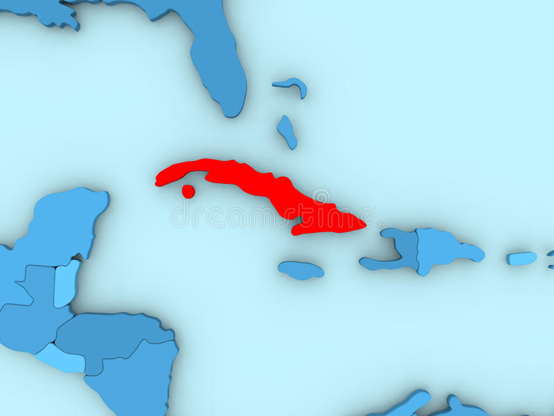 Cuba on 3d map stock illustration illustration of south 86431107 country of cuba highlighted in red on blue map 3d illustration gumiabroncs Image collections