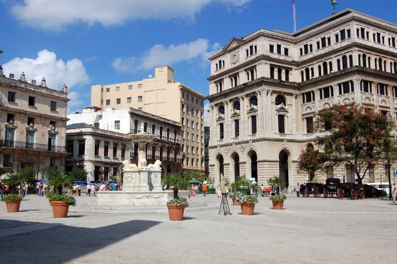 cuba de francisco havana plaza san royaltyfri fotografi