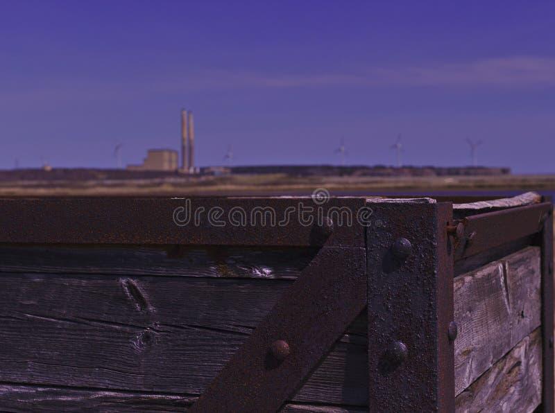 Cuba de oxidação 3484 do poço da mina de carvão fotos de stock royalty free
