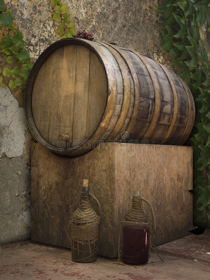 Cuba del vino fotografía de archivo