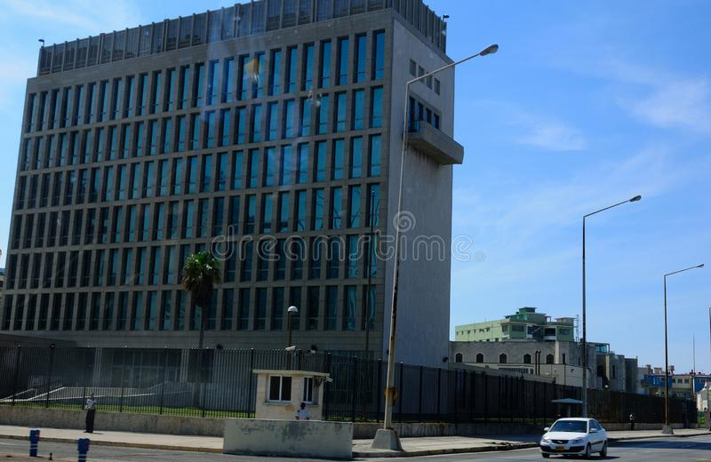 Cuba: The US-Embassy in Havanna claims to be under attack. Cuba: The diplomats in the US-Embassy in Havanna claims to be under acustic attack royalty free stock photography
