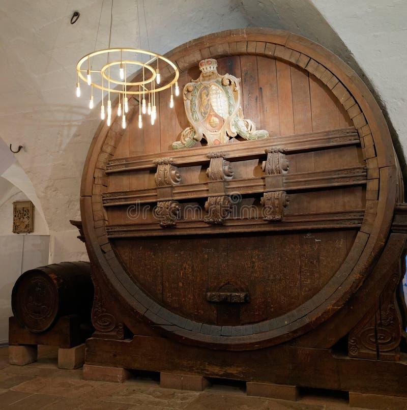 Cuba do vinho do castelo de Heidelberg foto de stock