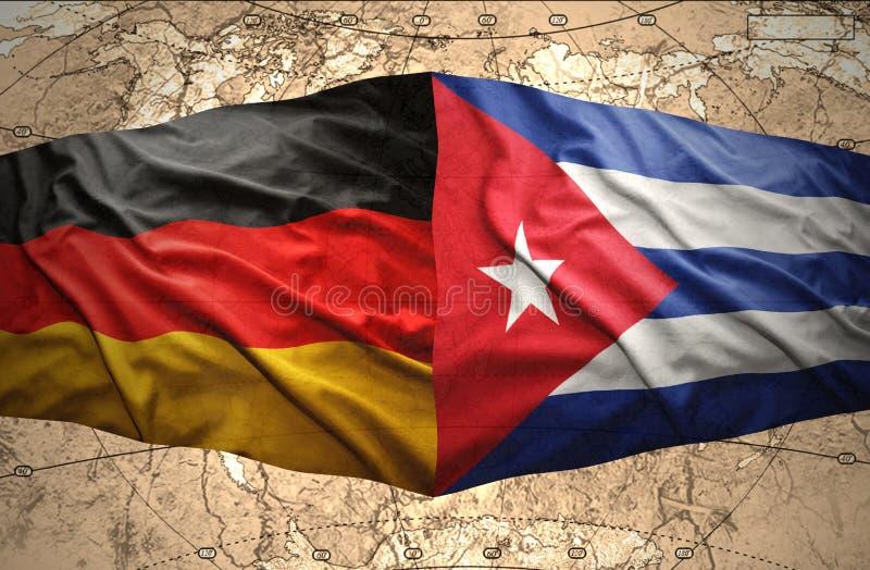 Cuba en Duitsland stock illustratie