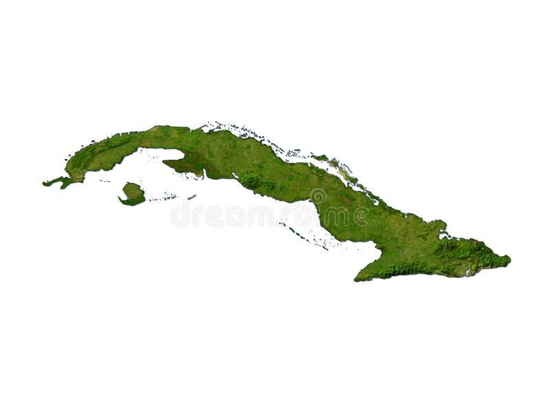 Cuba en el fondo blanco ilustración del vector