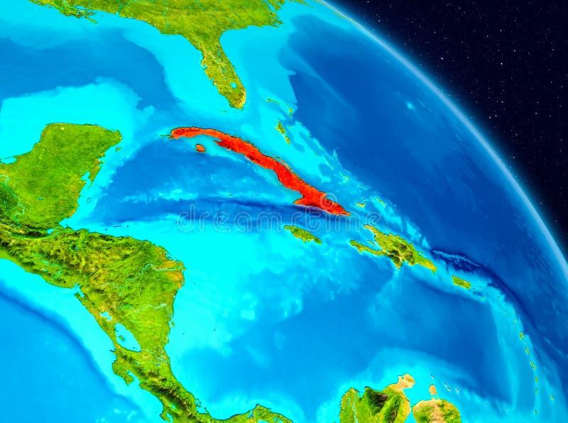 Cuba en la tierra ilustración del vector