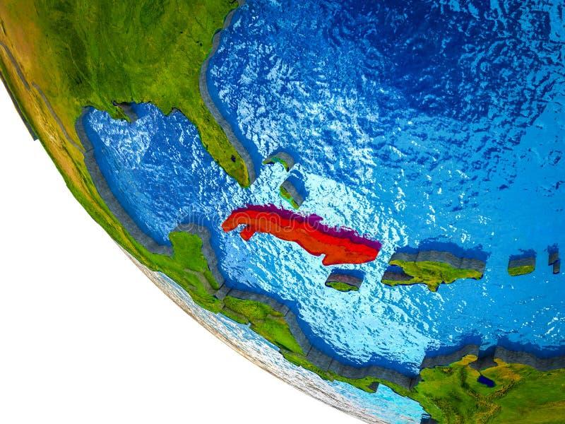 Cuba en la tierra 3D libre illustration