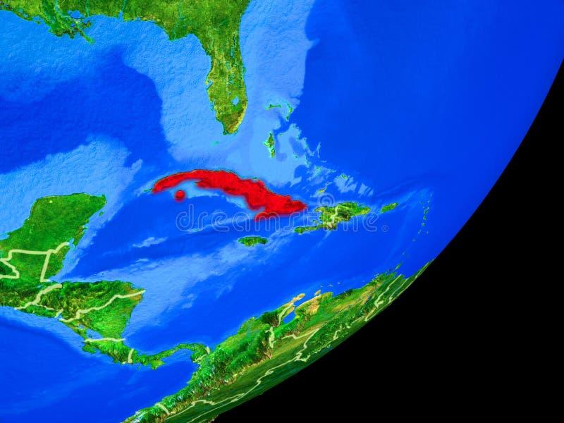 Cuba en la tierra del espacio libre illustration