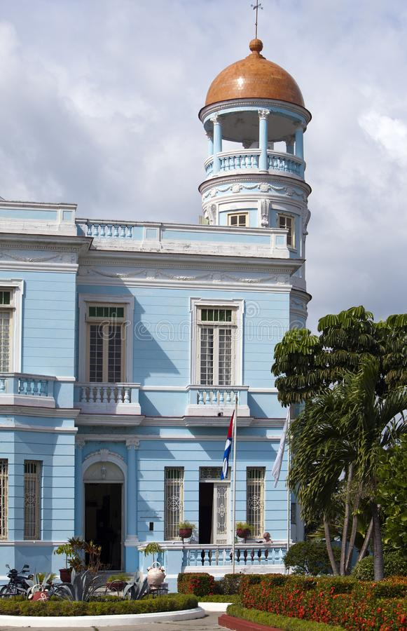 CUBA- FEBRUARY 03, 2013:Blue Palace, Hotel Palacio Azul, built in 1920, Cienfuegos. Cuba stock images