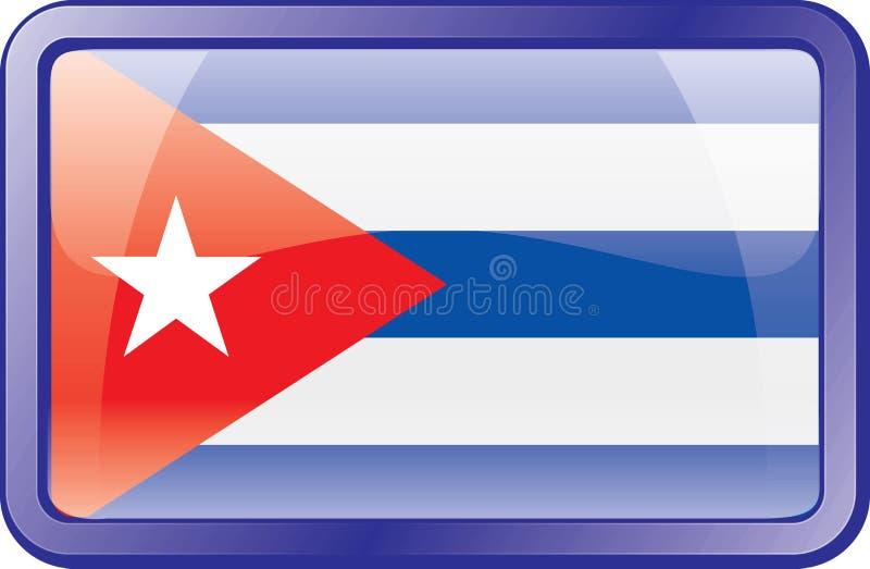 Cuba Flag Icon stock image