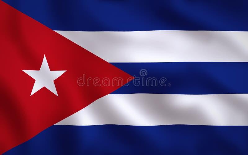Cuba Flag Image Full Frame. Cuban Flag Waving Background Texture stock illustration