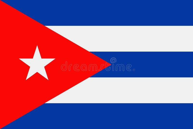 Cuba Flag Vector Flat Icon stock illustration