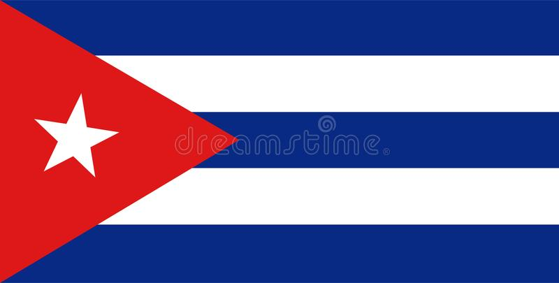 Cuba flag vector.Illustration of Cuba flag. Background royalty free illustration