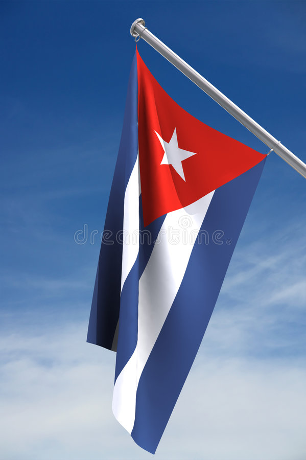 cuba flagganational royaltyfri illustrationer