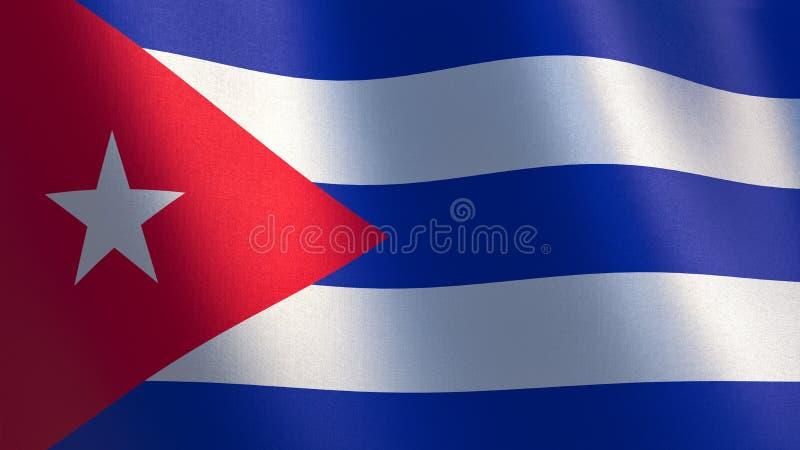cuba flaggavåg illustration 3d royaltyfri illustrationer