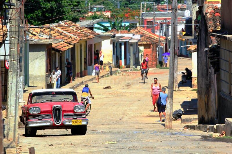 cuba gata trinidad arkivbilder