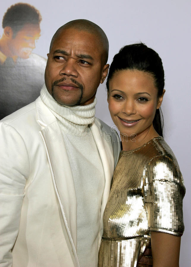 Cuba Gooding Jr. and Thandie Newton. HOLLYWOOD, CALIFORNIA. Thursday December 7, 2006. Cuba Gooding Jr. and Thandie Newton attend the Los Angeles Premiere of The stock photos