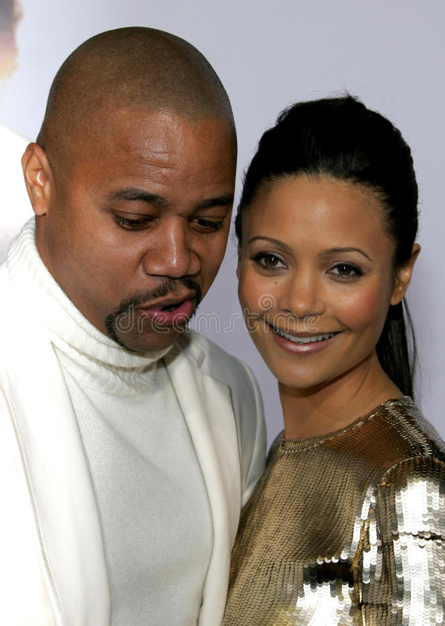 Cuba Gooding Jr. and Thandie Newton. HOLLYWOOD, CALIFORNIA. Thursday December 7, 2006. Cuba Gooding Jr. and Thandie Newton attend the Los Angeles Premiere of The royalty free stock images