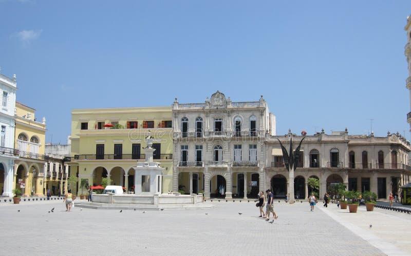 Cuba, Habana, centrum van de oude stad stock fotografie