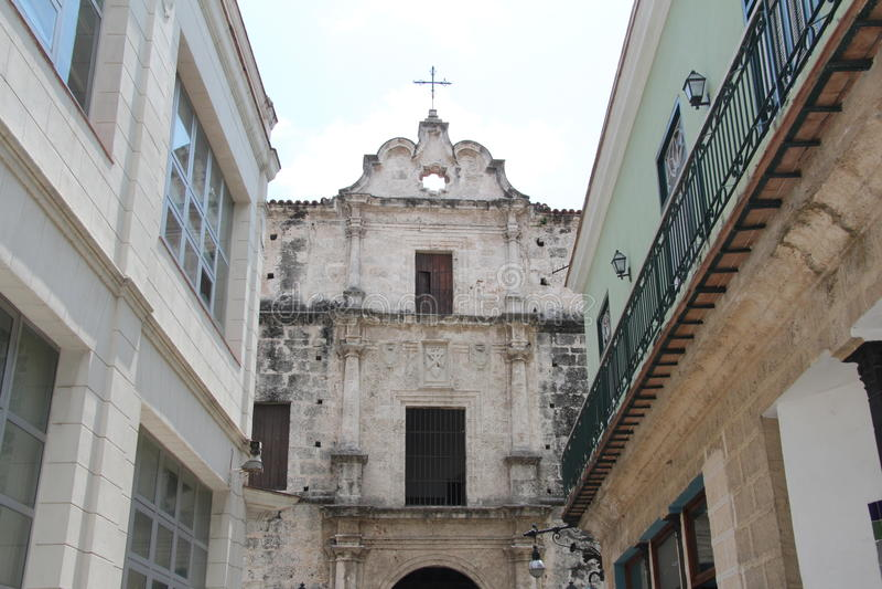 Cuba, Habana, oud Habana-centrum royalty-vrije stock foto's