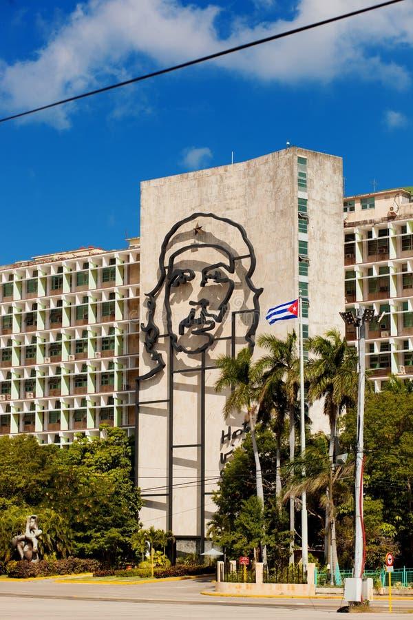 cuba havana 8 Februari 2018 - basrelief av Ernesto Che Guevar royaltyfria bilder