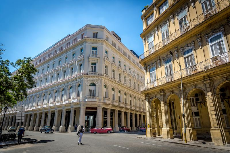 Cuba, Havana - Mar 9th 2018 - The traditional buildings of Havana, Cuba`s capital. stock photo