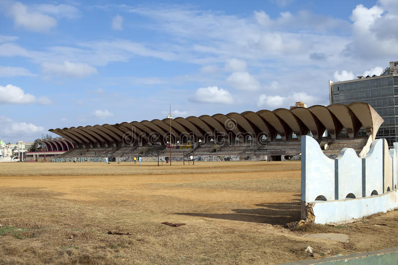 cuba havana stadsstadion royaltyfri foto