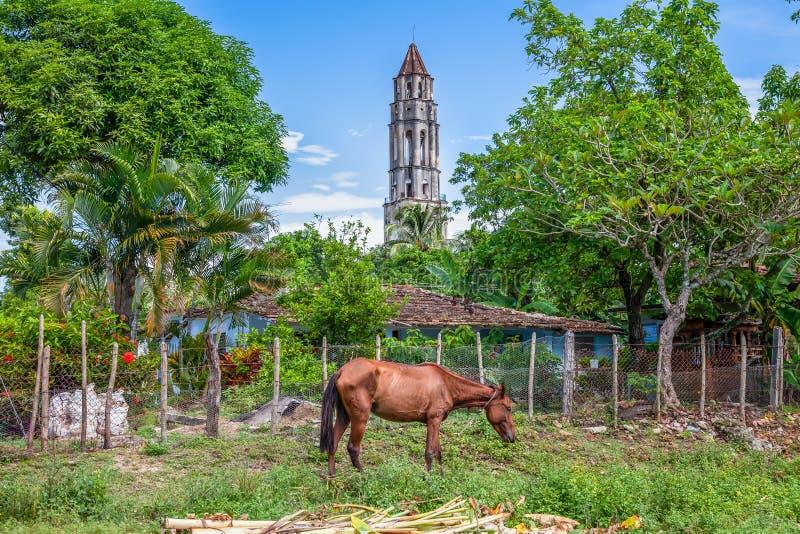 Cuba, het landgoedtoren van Manaca Iznaga in de Vallei DE los Ingenios, royalty-vrije stock afbeelding