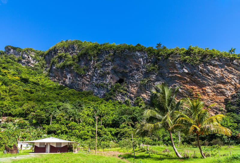 Cuba inland landscape in the Sierra Maestra Mountains royalty free stock images