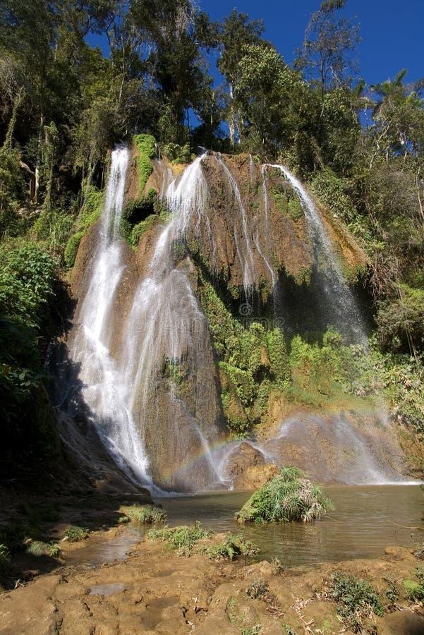 cuba landskaptrinidad vattenfall arkivfoton