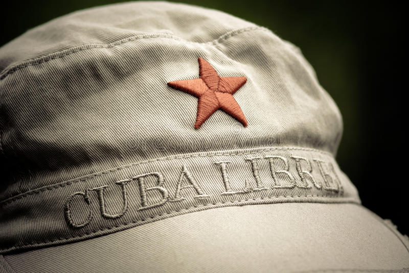 Cuba libre. An ordinary flee market cap with a red star and cubra libre written on it royalty free stock photography