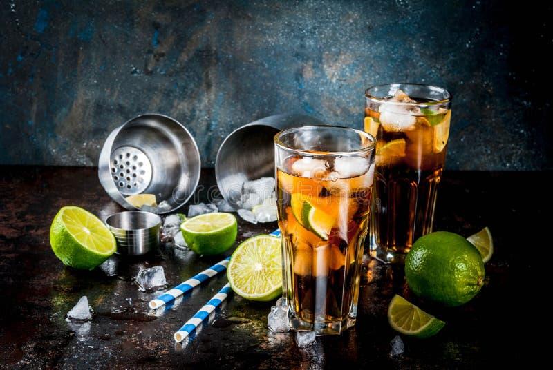 Cuba Libre, cocktail do Long Island imagens de stock royalty free