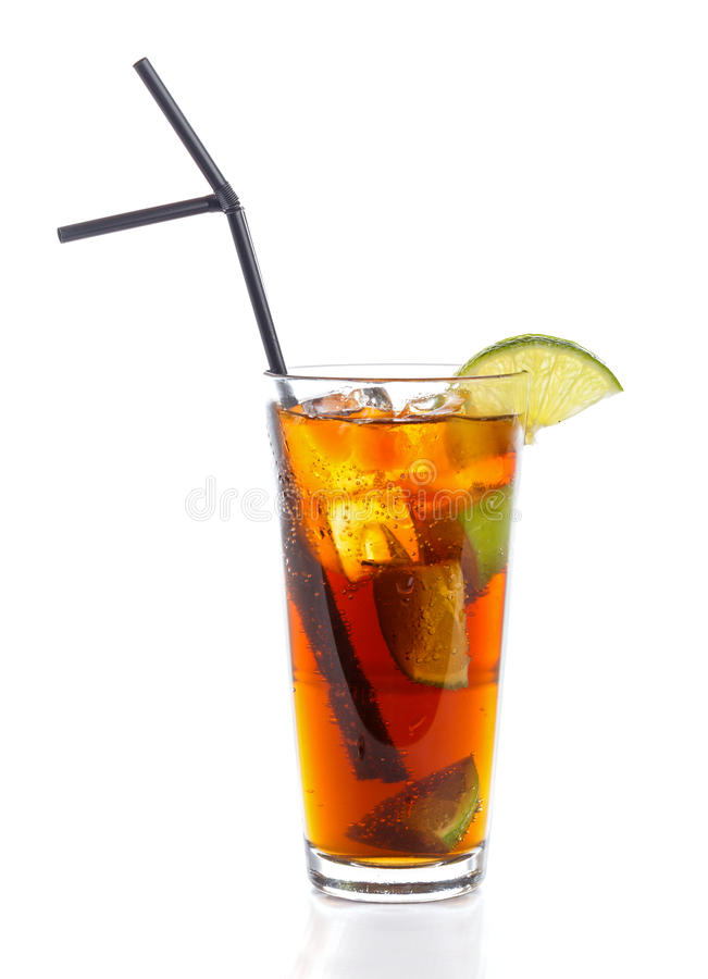 Cuba Libre. Cocktail with rum and cola stock image