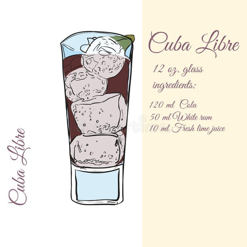 Cuba Libre. Cocktails. vector illustratie