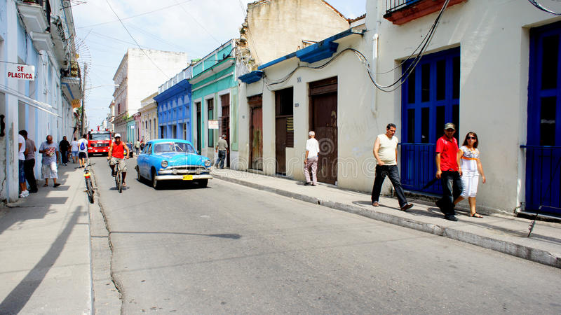 Cuba. Matanzas. Transporte de la calle. fotografía de archivo libre de regalías