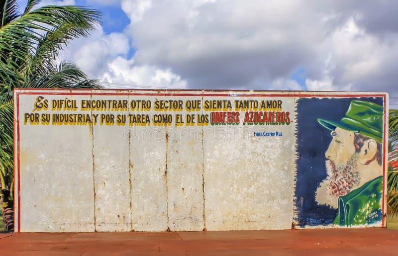 Cuba, muestra de Fidel Castro fotos de archivo libres de regalías