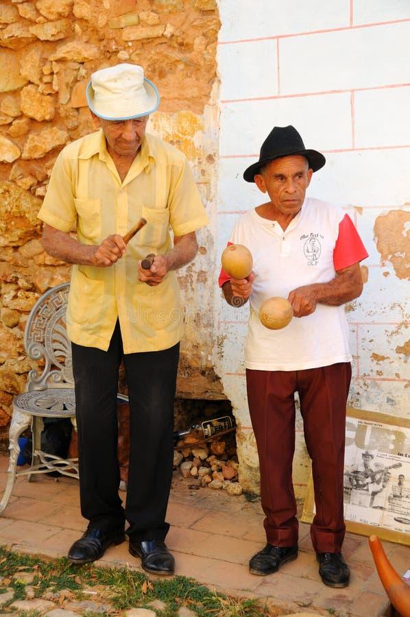 cuba musiker 2008 oct trinidad arkivbilder
