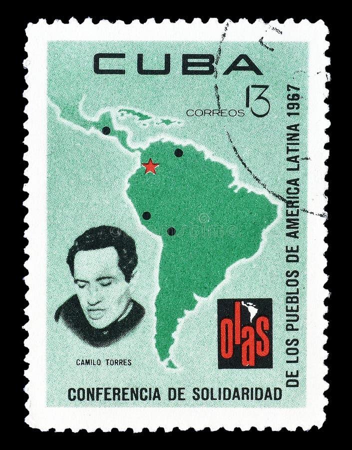 Cuba op postzegels royalty-vrije stock afbeeldingen