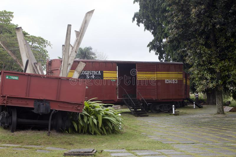 CUBA, PAP? NOEL CLARA 2 DE FEBRERO DE 2013: Monumento al descarrilamiento del tren blindado imagen de archivo