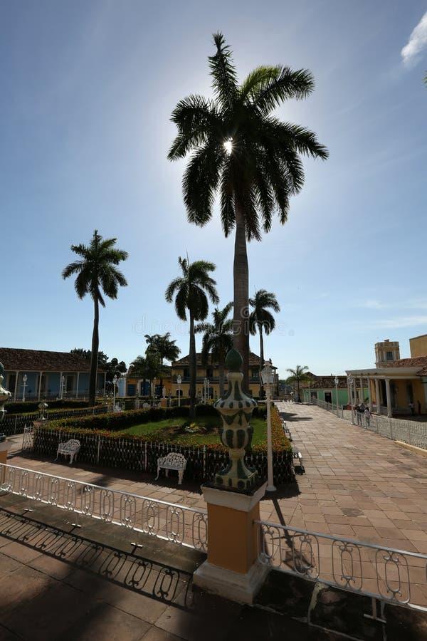 Cuba, parque em Trinidad fotografia de stock royalty free
