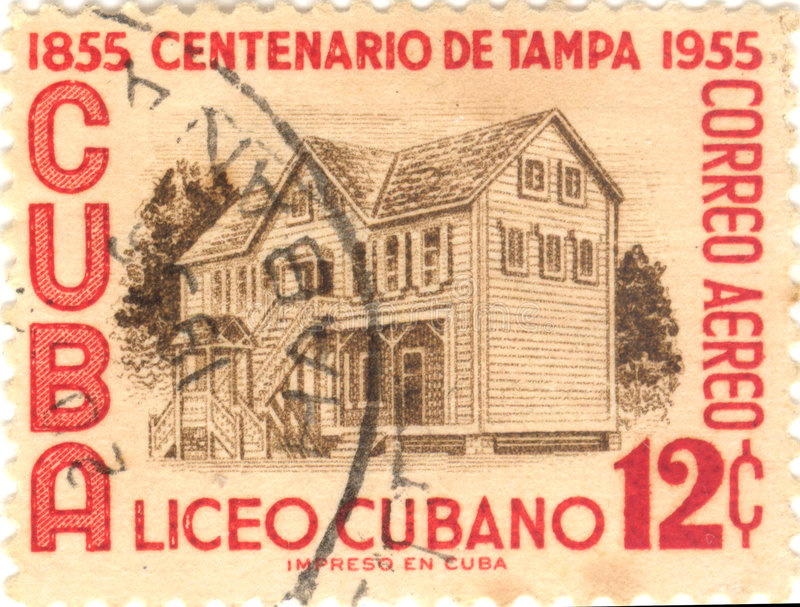 Download Cuba postage stamp stock photo. Image of cent, building - 2605434