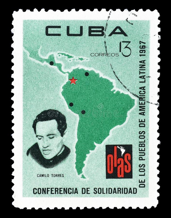 Cuba on postage stamps royalty free stock images