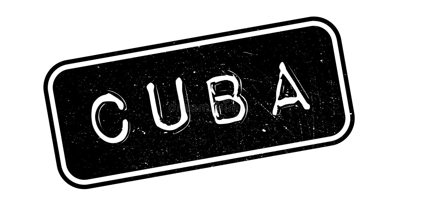 Cuba rubber stamp royalty free illustration