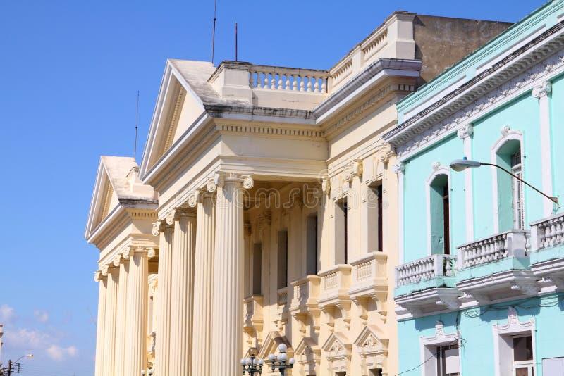 Cuba - Santa Clara. Neoclassical architecture in Santa Clara, Cuba. Jose Marti library stock photo